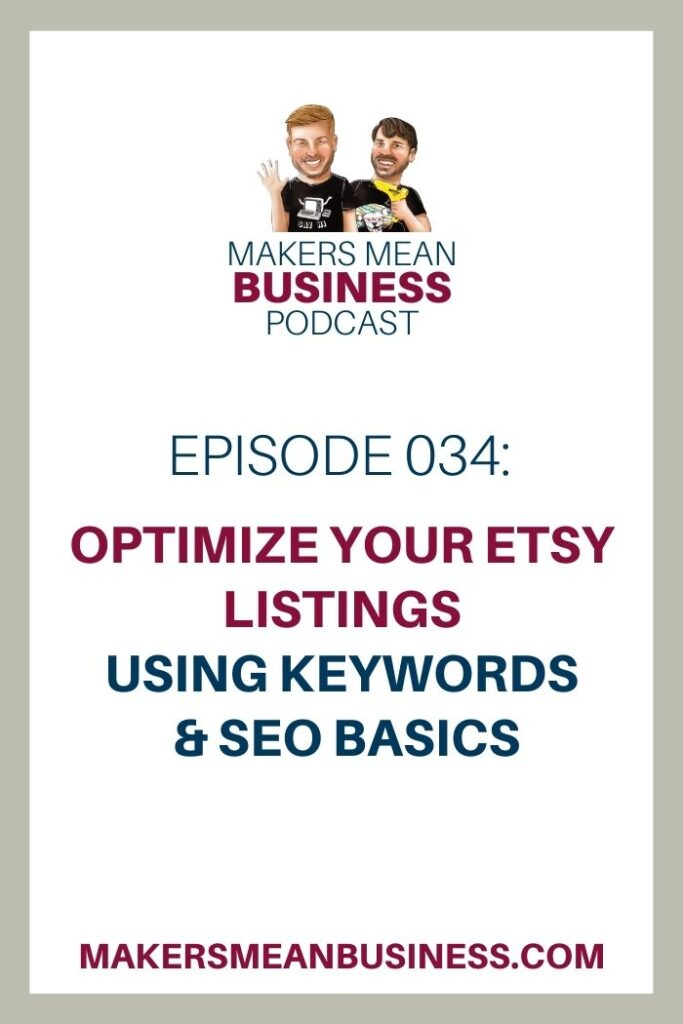 Optimize Etsy Listings using Keywords