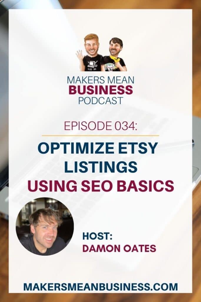 Optimize Etsy Listings using SEO Basics